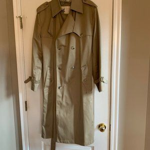 Long, Double-Breasted, Collared Trench Coat